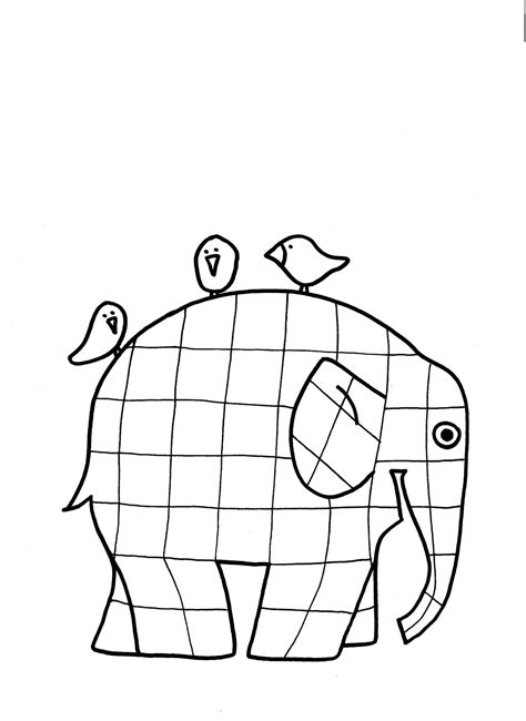 Free Elmer The Elephant Coloring Pages Elmer Colouring Pages