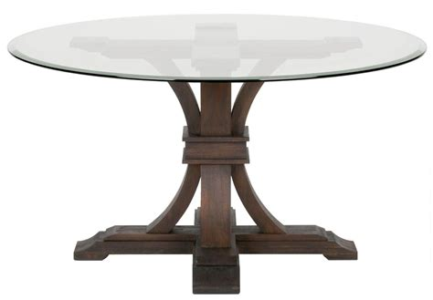 traditions rustic java 54 quot glass dining table