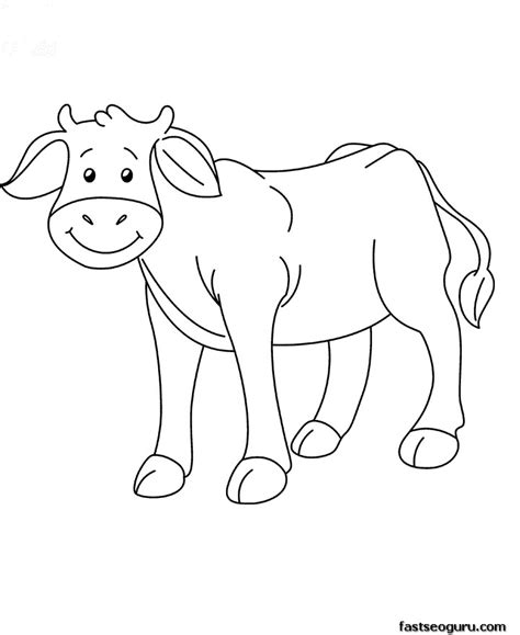 feed pictures coloring pages baby cow animals cow free