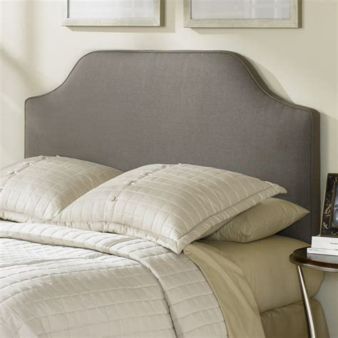 Gray Upholstered Headboard by Bordeaux Dolphin Gray Upholstered Fabric Headboard Dcg