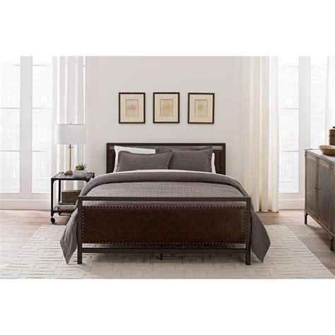 Metal And Upholstered Headboards Dhp Vintage Bronze Size Metal And Upholstered Bed