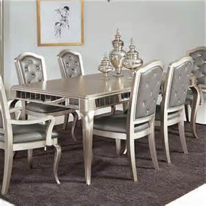 Mirrored Dining Room Set Samuel Lawrence Diva King Bedroom Group Ivan Smith