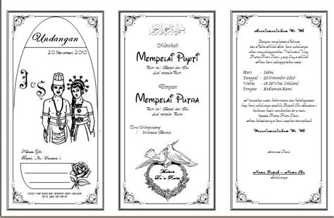 membuat undangan unik download undangan nikah microsoft word joy studio design