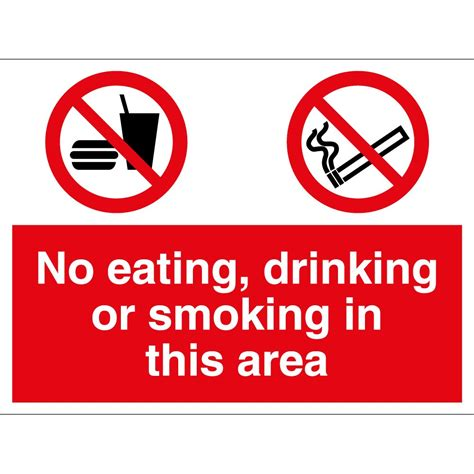 eating and drinking area safety signs signstoyou com no eating drinking or smoking in this area signs from
