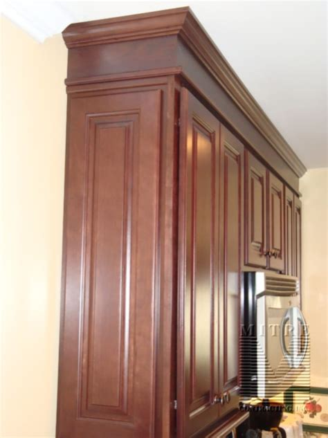 Cabinet Crown Molding Profiles by Adding Raised Panel Cabinet Quot Panels Quot To End Finish