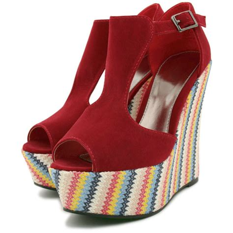chagne colored wedges multi colour raffia wedge heel platform suede style shoes
