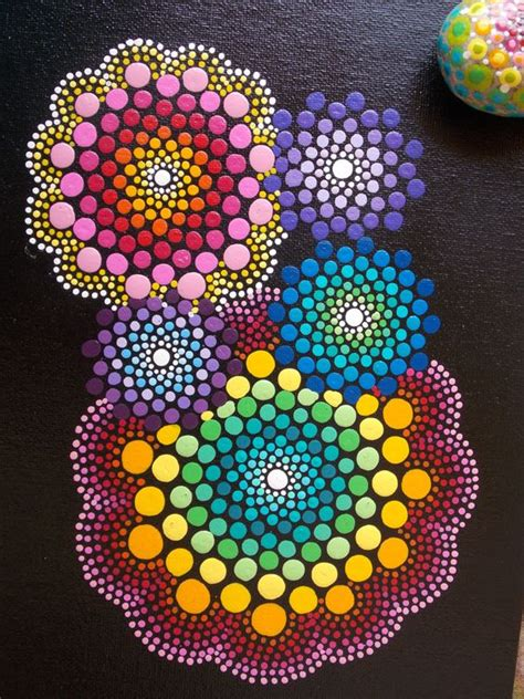 dot pattern mandala set mandala painting mandala stone matching set dot