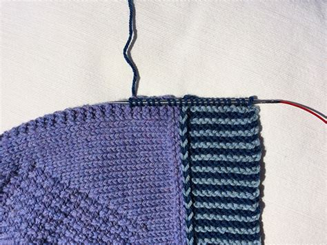 picking up stitches knitting martin storey kal 2016 no sew trim knitting with rowan