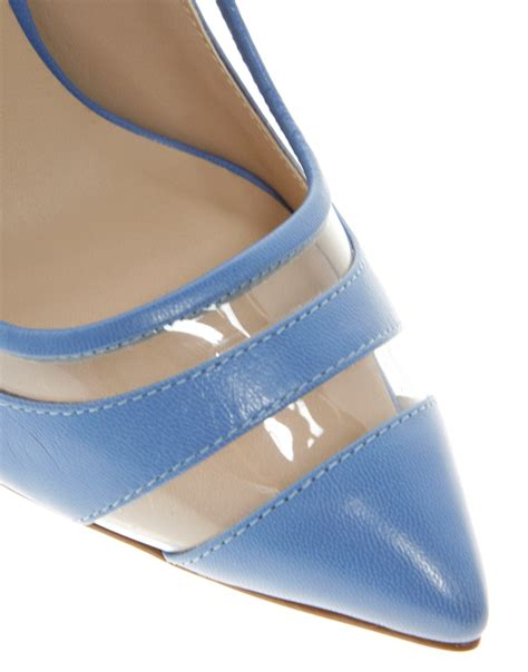 Behave Shoes lyst dune behave perspex court shoes in blue