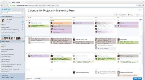 asana templates asana unveils calendars a new way to visualize project