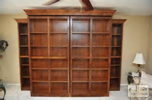 Murphy Bed With Storage Bookcases