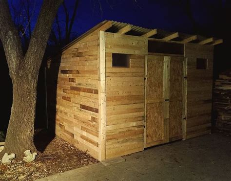 Pallet Storage Shed 10 free plans to build a shed from recycle pallet the