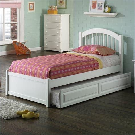Platform Bed With Trundle Atlantic Furniture Platform Bed With Trundle In White Ap94x2002 Set