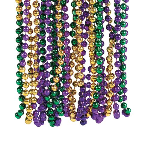 Purple Home Decorations by Tri Color Mardi Gras Beads Oriental Trading