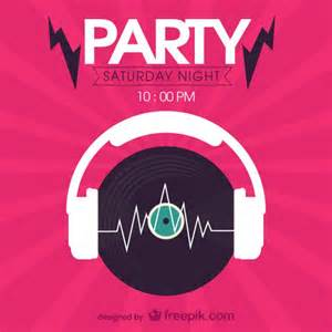 saturday night party flyer vector free vector download