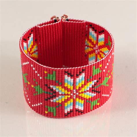 indian bead loom american style wide cuff bead loom bracelet