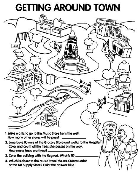getting around town coloring page crayola com