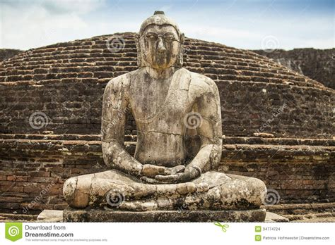 Ancient Buddhism Www Imgkid The Ancient Buddha Statue At Polonnaruwa Stock Images Image