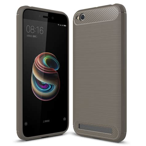 Peonia Synthetic Carbon For Xiaomi Redmi 5a 5 0 Inch Black xiaomi redmi 5a plus brushed texture carbon fiber shockproof tpu rugged armor protective