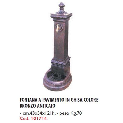 peso riscaldamento a pavimento fontana a pavimento in ghisa colore bronzo anticato cm