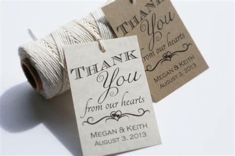 printable wedding favor tags diy thank you tags by