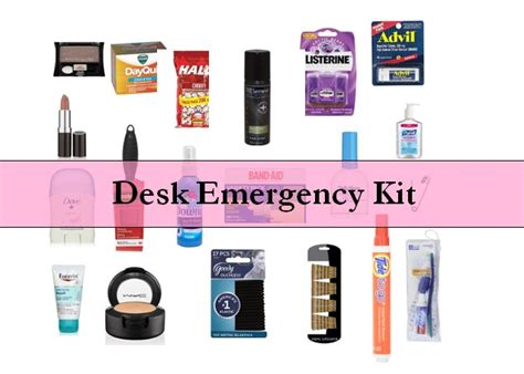 office desk must haves desk emergency kits for desks wardrobes and cubicle