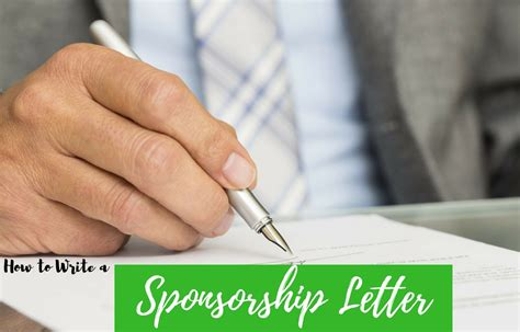 how to write a sponsorship letter how to write a sponsorship letter with free sle formats 1319