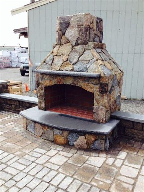 outdoor stone wood burning fireplace kits best 25 outdoor fireplace kits ideas on diy
