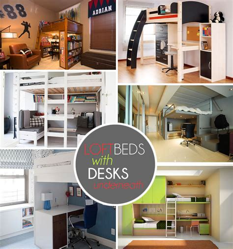 bed with desk loft beds with desks underneath 30 design ideas with