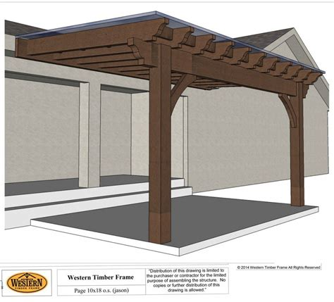 How To Easily Build A Diy Patio Cover Western Timber Frame Timber Frame Pergola Plans