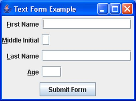 textfield in java swing create the textfield textfield 171 swing jfc 171 java