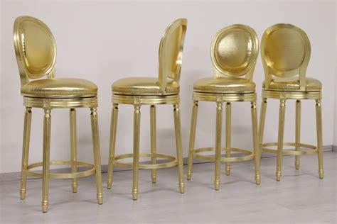 sgabelli classici sgabello con seduta girevole finitura oro idfdesign