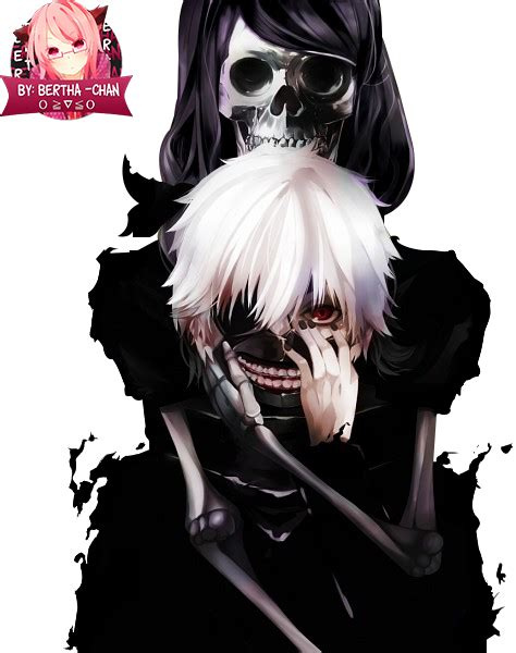 Kaos Tokyo Ghoul Ken Kaneki Mask Aogirikaneki Re Spade Anime kaneki ken y rize kamishiro tokyo ghoul render by bertha chan on deviantart