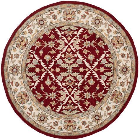safavieh easy care ivory 6 ft x 6 ft area rug