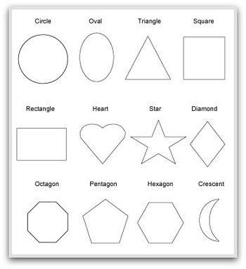 Shape Shape Pattern Book | geometric shapes to print cut color and fold school