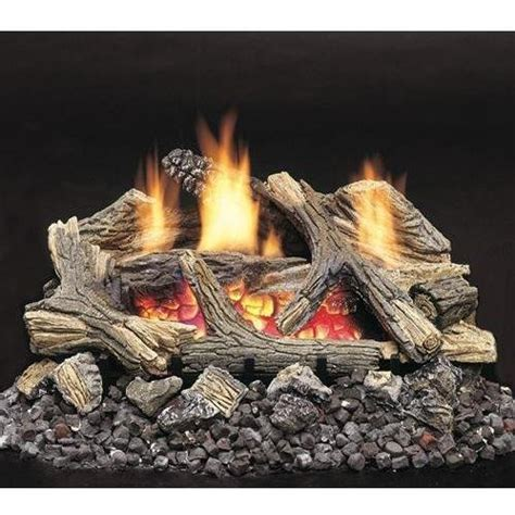 Remote Gas Fireplace Logs by Monessen Aged Hickory Ventless Gas Logs Remote Ready