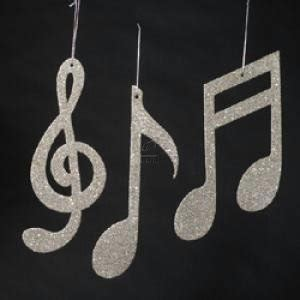 christmas tree decorations musical notes christmas