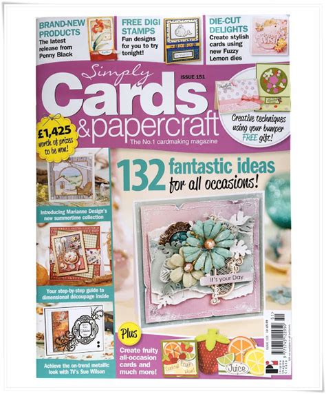 Card And Papercraft Magazine - my card on the cover simply card papercraft magazine