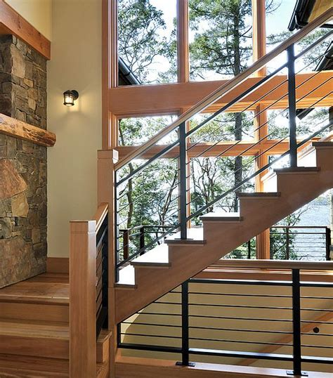 Metal Banisters And Railings Wood Railing Ideas Kids Art Decorating Ideas