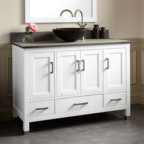 white bathroom vanity 48 48 quot schneider vessel sink vanity white
