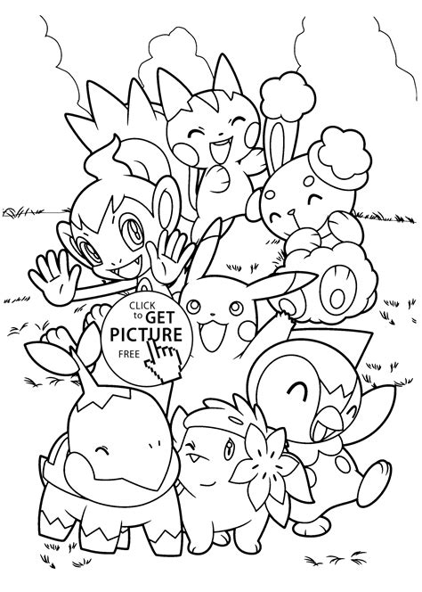 coloring pages for pokemon characters pokemon characters anime coloring pages for kids