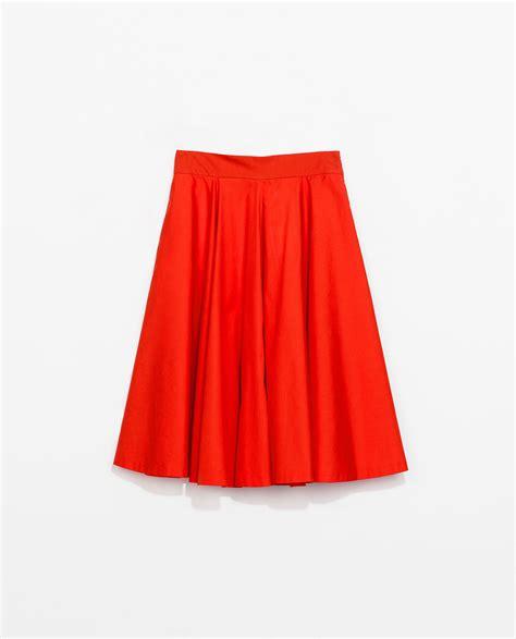 Zara Skirt zara flared skirt in lyst