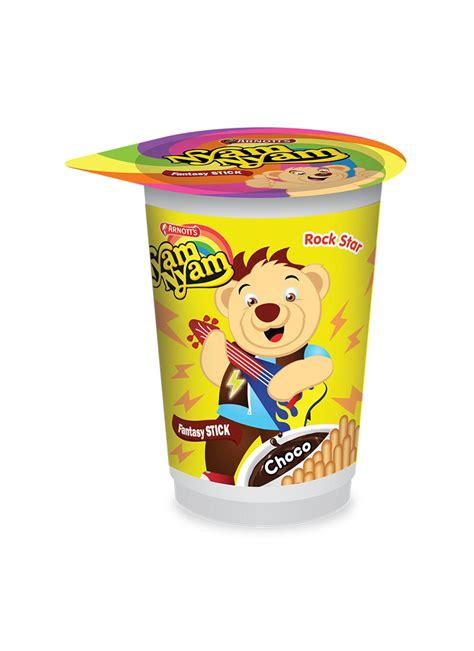 Nyam Nyam Puff Choco 18gr arnott s biscuit nyam nyam fntasy stick choco cup 25g