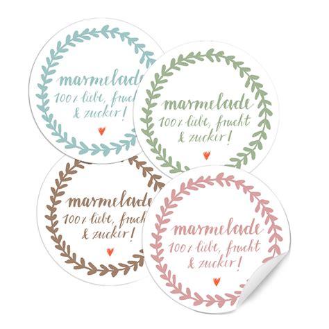 Etiketten Marmelade Selbst Gemacht by 24x Wei 223 Pastellt 246 Ne Marmeladenetiketten Rund 40mm