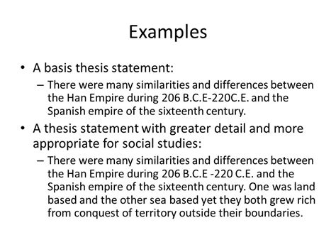 exle of a thesis statement for a research paper exles of thesis statements