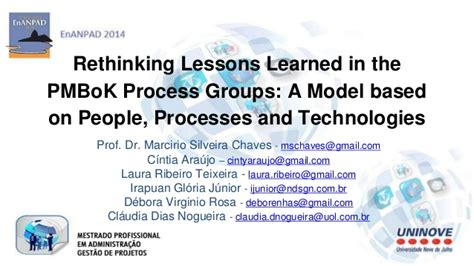 lessons learned template pmbok rethinking lessons learned in the pmbok process groups a