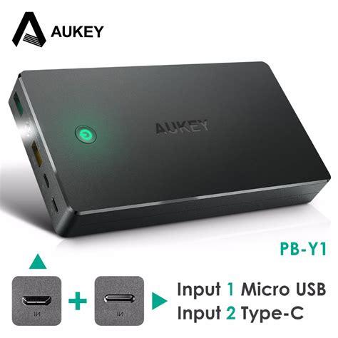 Aukey Power Bank 20000mah 2 Port Qc 2 0 Pb T5 Black T3010 2 סוללות חיצוניות לטלפון נייד פשוט לקנות באלי אקספרס בעברית