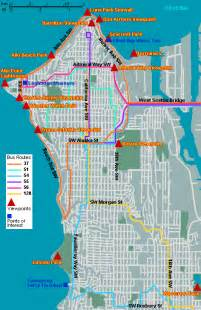 Map of west seattle viewpoints go northwest a travel guide