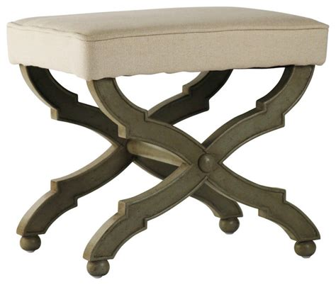 single seat bench crescenzo bench single seat traditional upholstered benches other metro by