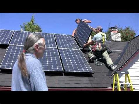 what does a solar panel installer do installing solar panels on a house